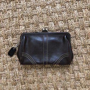 Coach Chocolate Brown Coin Purse